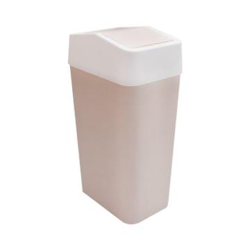 TEMPAT SAMPAH PLASTIK TUTUP AYUN  22X14.5X40 CM - KREM_1