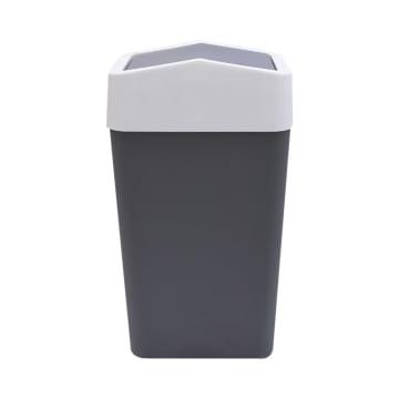 TEMPAT SAMPAH PLASTIK TUTUP AYUN  22X14.5X40 CM - ABU-ABU_2