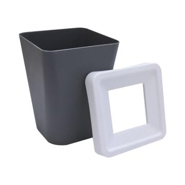 TEMPAT SAMPAH PLASTIK 23.3X23.3X29.5 CM - ABU-ABU_2