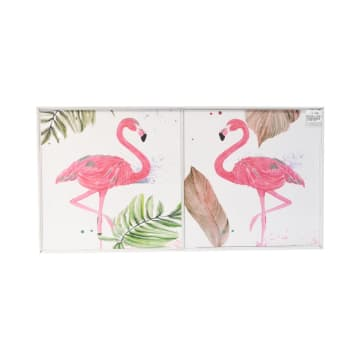 SET HIASAN DINDING FLAMINGO 30X30X3 CM 2 PCS_1