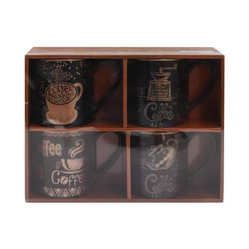 DELIZIOSO SET MUG DRINK COFFEE 384 ML 4 PCS_1