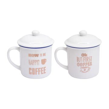 DELIZIOSO SET MUG FIRST COFFEE 414 ML 2 PCS_1