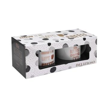 DELIZIOSO SET MUG FIRST COFFEE 414 ML 2 PCS_2