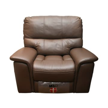 M&D DONATELLO SOFA RECLINER GOYANG - COKELAT MUDA_1