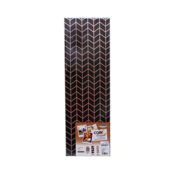 HIASAN DINDING CORK BOARD P3 20X60 CM - HITAM_1