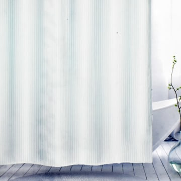 KRIS TIRAI KAMAR MANDI HOTEL STRIPE 180X180 CM - PUTIH_2