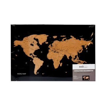 ODI SCRATCH MAGNETIC BOARD MAP 60X40X2 CM_1