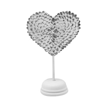 MINIATUR DEKORASI HEART SHAPE ANGEL WINGS - PUTIH_1