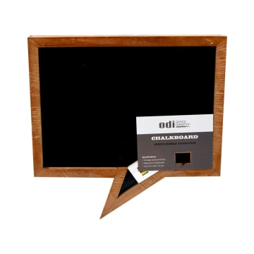 PAPAN TULIS SPEECH BUBBLE 40X40X1.5 CM - HITAM_1