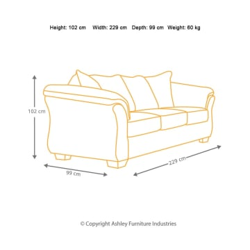 ASHLEY  SOFA DARCY 3 DUDUKAN - COKELAT_2