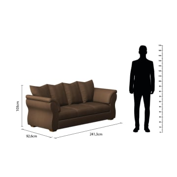 ASHLEY DARCY SOFA 3 DUDUKAN - COKELAT TUA_3