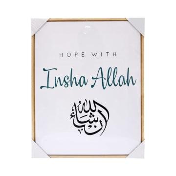 HIASAN DINDING KANVAS PRINT HOPE WITH INSHA ALLAH 40X50X2.5 CM_1