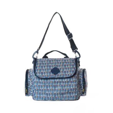 Freckles Cooler Bag Triangle Blue_1