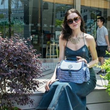Freckles Cooler Bag Triangle Blue_4