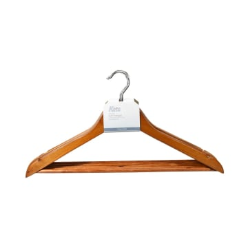 KRIS SET HANGER KAYU WOODEN BAR 5 PCS - KAYU_1