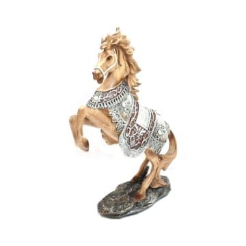 MINIATUR DEKORASI HORSE 22X8X32.8 CM_3