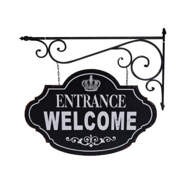 DEKORASI DINDING ENTRANCE WELCOME 67X5.5X63.5 CM_1