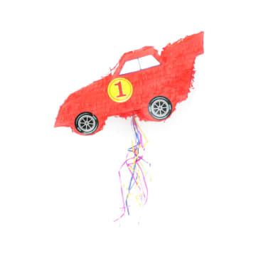 KRIS PINATA CAR WITH STICK - MERAH_1