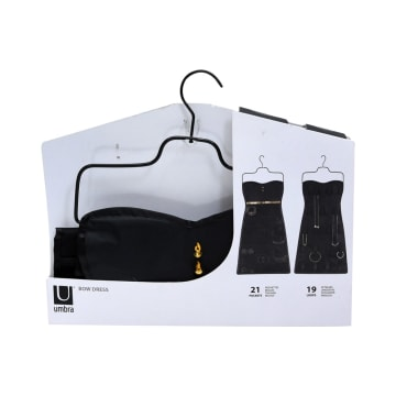 UMBRA GANTUNGAN DINDING UNTUK PERHIASAN MODEL DRESS - HITAM_3