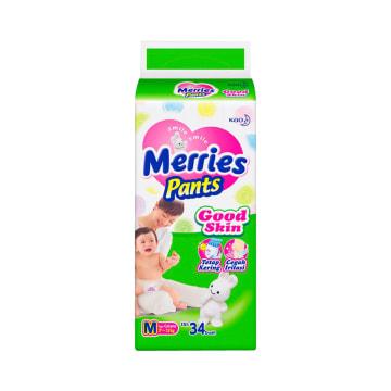 MERRIES POPOK GOOD SKIN PANTS UKURAN M 34 PCS_1