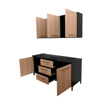 DAKOTA KITCHEN SET 2 UNIT 1.8 MTR - HITAM_2