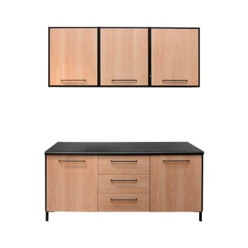 DAKOTA KITCHEN SET 2 UNIT 1.8 MTR - HITAM_1