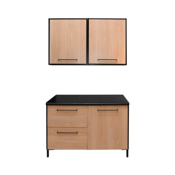 DAKOTA KITCHEN SET 2 UNIT 1.2 MTR - HITAM_1