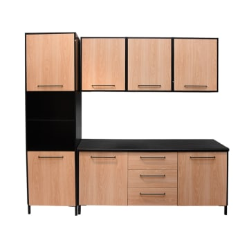 DAKOTA KITCHEN SET 3 UNIT 2.4 MTR - HITAM_1