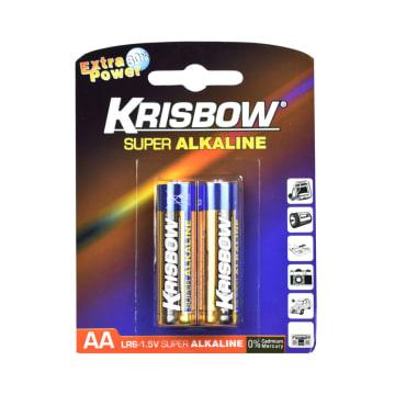 KRISBOW BATERAI ALKALINE UKURAN AA 2 PCS_1