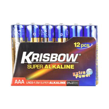 KRISBOW BATERAI ALKALINE UKURAN AAA 12 PCS_2