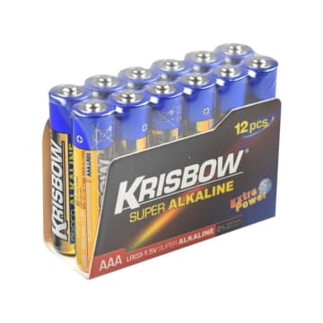 KRISBOW BATERAI ALKALINE UKURAN AAA 12 PCS_1