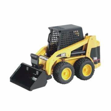 Bruder Toys 2431 Cat Skid Steer Loader Mainan Anak - Kuning_1