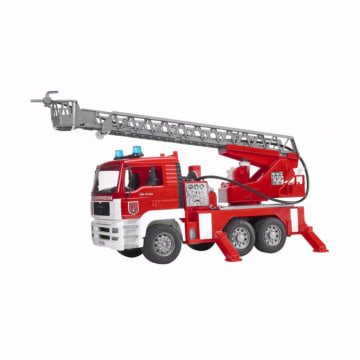 Bruder Toys 2771 Man Tga Fire Engine W. Water Pump Light & Sound Mainan Anak - Merah_1