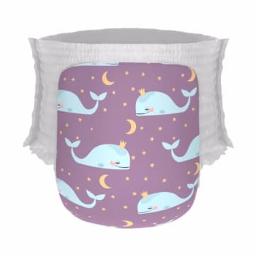 Happy Diapers Pant Popok Bayi - Good Night, Whale [Size L26 pcsA15]_1