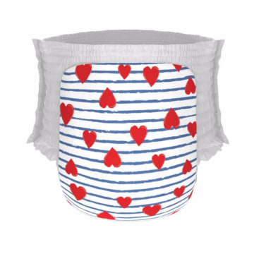 Happy Diapers Pant Heart and Stripes Popok Bayi [M30pcs]_1