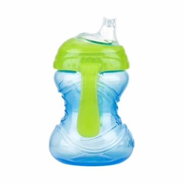 Nuby 106597 - 10120 Clikit Twin Handle Trainer Cup - Blue Green [8 oz / 240 mL]_1