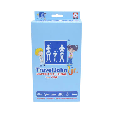 TRAVELJOHN JR KANTUNG URIN ANAK 600 ML 6 PCS_1