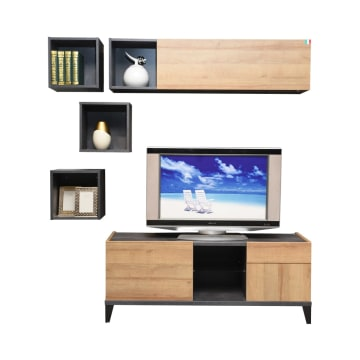 RAK & LEMARI TV VITTORIA WALL UNIT_1