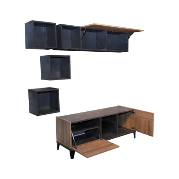 RAK & LEMARI TV VITTORIA WALL UNIT_4