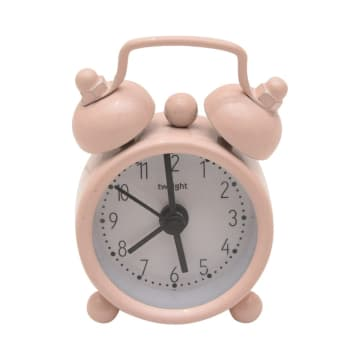 JAM ALARM MINI TWIN BELL - PINK_2