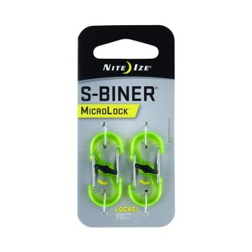 NITE IZE S-BINER MICROLOCK KARABINER PLASTIK 2 PCS - HIJAU_1