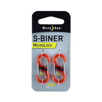 NITE IZE S-BINER MICROLOCK KARABINER PLASTIK 2 PCS - ORANYE_1
