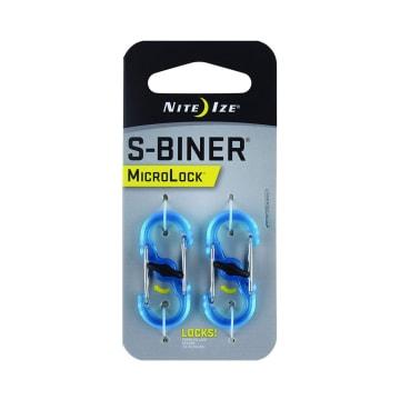 NITE IZE S-BINER MICROLOCK KARABINER METAL 2 PCS - BIRU_1