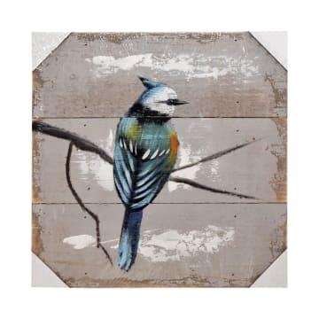 HIASAN DINDING KAYU BIRD J02 30X30X2.5 CM_1