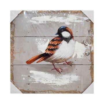 HIASAN DINDING KAYU BIRD J85 30X30X2.5 CM_1