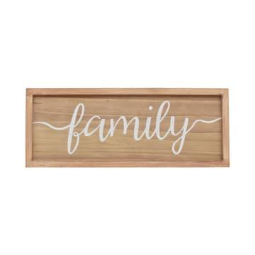 HIASAN DINDING KAYU FAMILY 63.8X2.8X24.5 CM_1