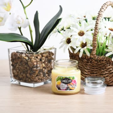 CANDLE LITE TROPICAL FRUIT MEDLEY LILIN AROMATERAPI 85 GR_1