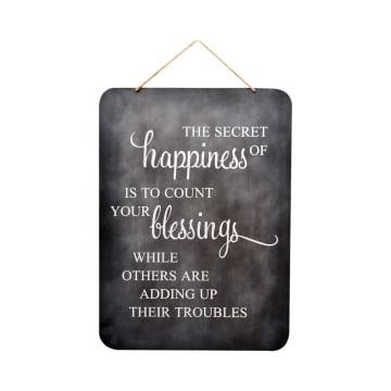 HIASAN DINDING HAPPINESS 44.5X1.5X62 CM_1