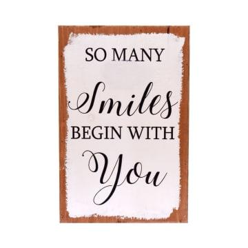 HIASAN DINDING SMILE 48 30.5X20X5.5 CM_1