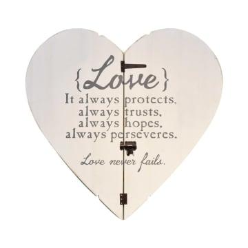 HIASAN DINDING LOVE SHAPE K2N2 91X89X4.8 CM_1